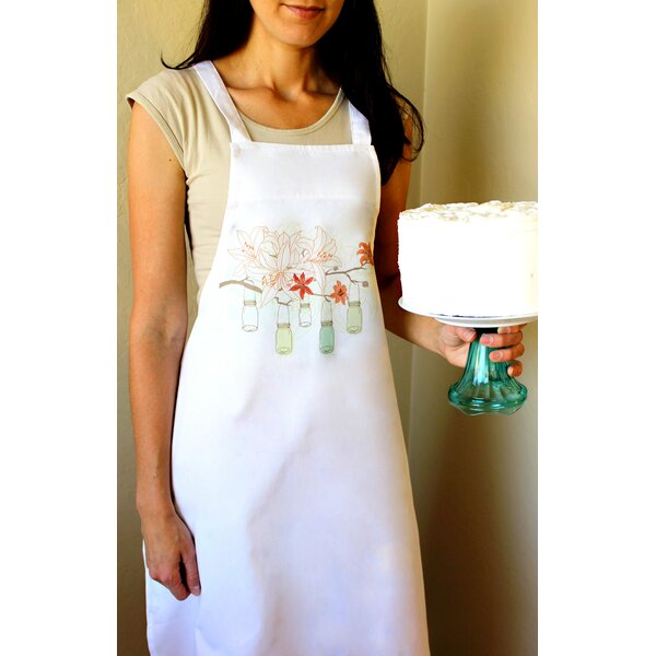 100% Cotton Mason Jars and Lilies Apron by Love You A Latte Shop